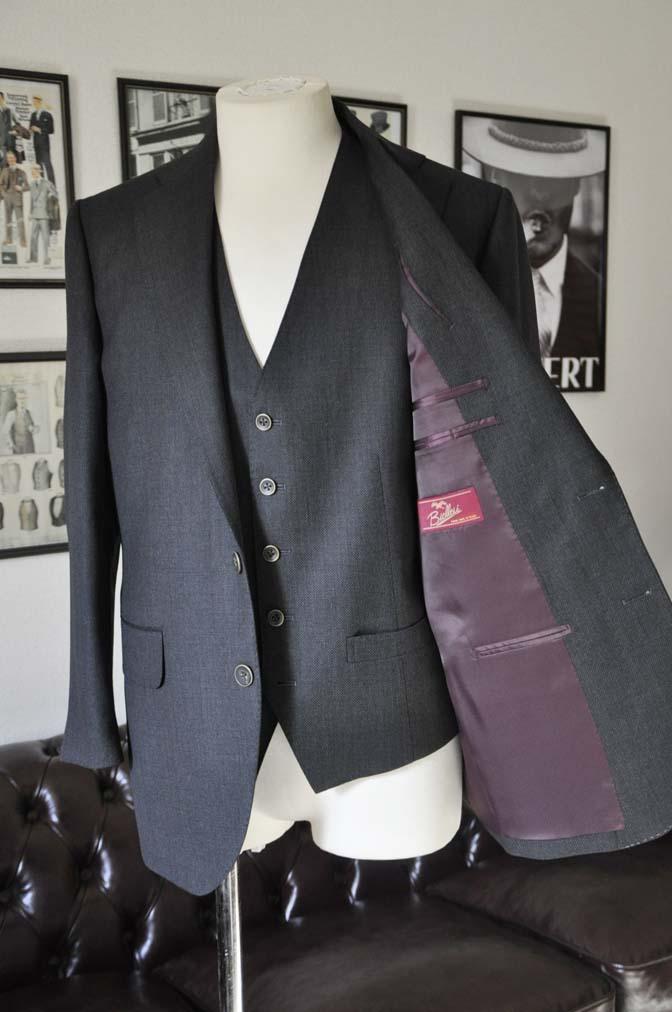 DSC25331 お客様のスーツの紹介- Biellesi グレーバーズアイ スリーピース-