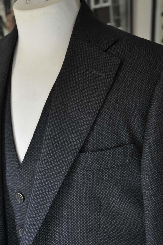 DSC25391 お客様のスーツの紹介- Biellesi グレーバーズアイ スリーピース-