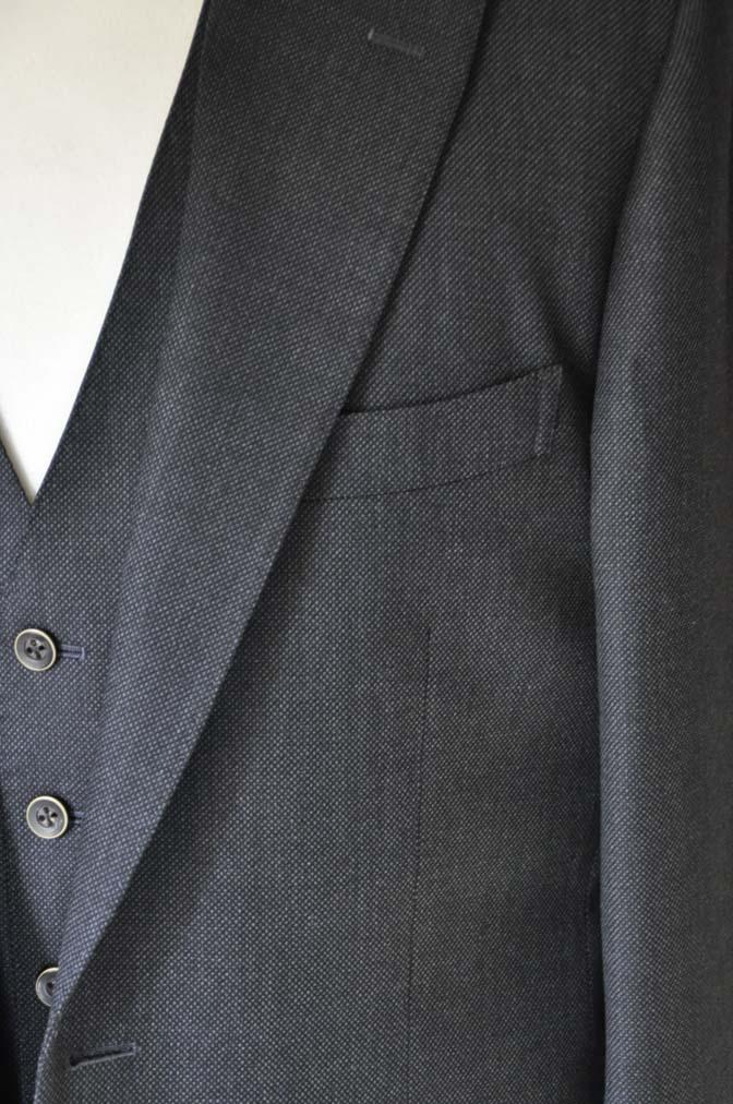 DSC2541 お客様のスーツの紹介- Biellesi グレーバーズアイ スリーピース-
