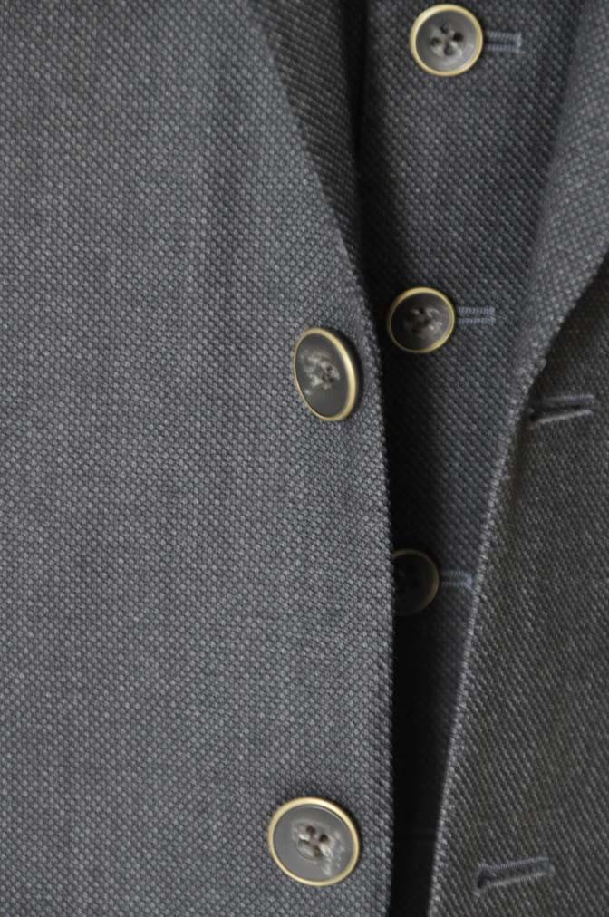 DSC2545 お客様のスーツの紹介- Biellesi グレーバーズアイ スリーピース-