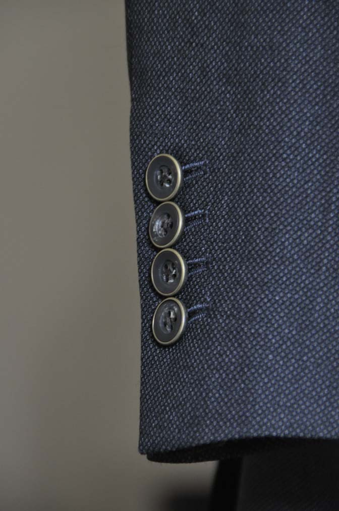 DSC2549 お客様のスーツの紹介- Biellesi グレーバーズアイ スリーピース-