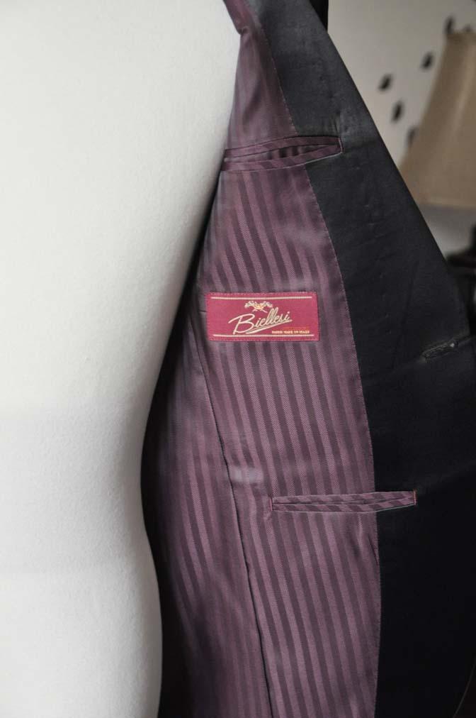 DSC2560-1 お客様のタキシードの紹介- Biellesiブラックショールカラータキシード- 名古屋の完全予約制オーダースーツ専門店DEFFERT