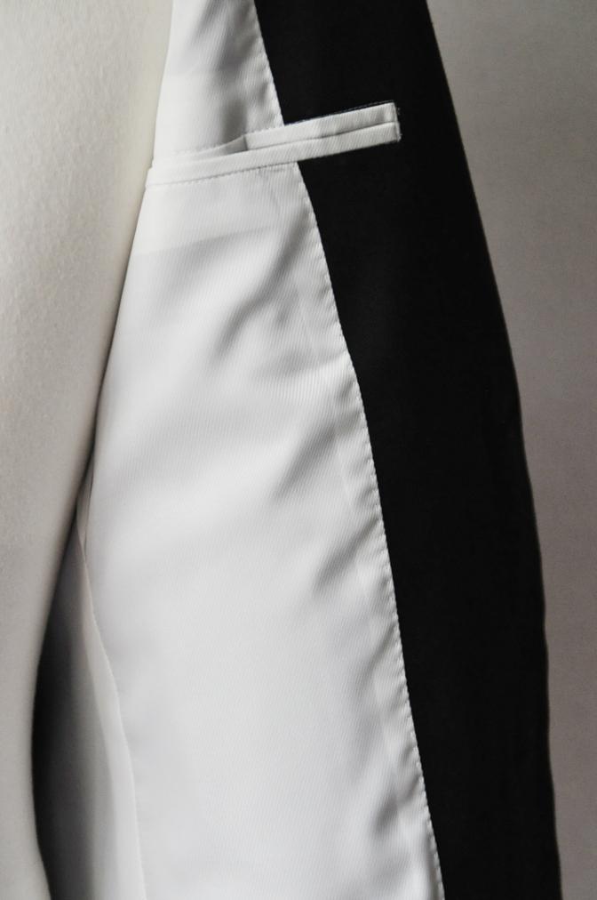 DSC2563 お客様のスーツの紹介- 無地ブラックコットンストレッチスーツ-