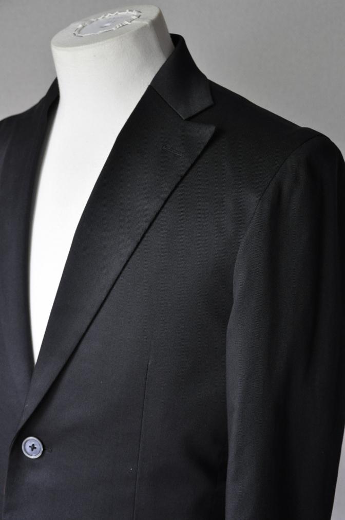 DSC2564 お客様のスーツの紹介- 無地ブラックコットンストレッチスーツ-