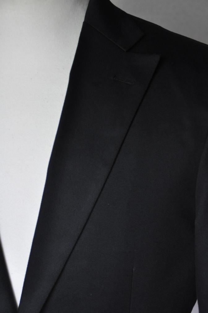 DSC2565 お客様のスーツの紹介- 無地ブラックコットンストレッチスーツ-
