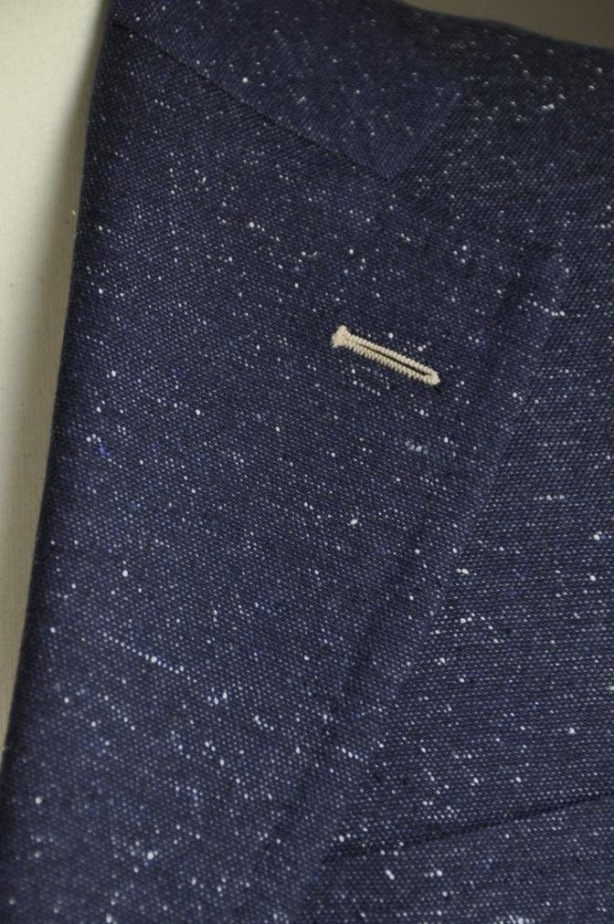 DSC26111 オーダージャケットの紹介-御幸毛織 ネイビーシルクネップ-