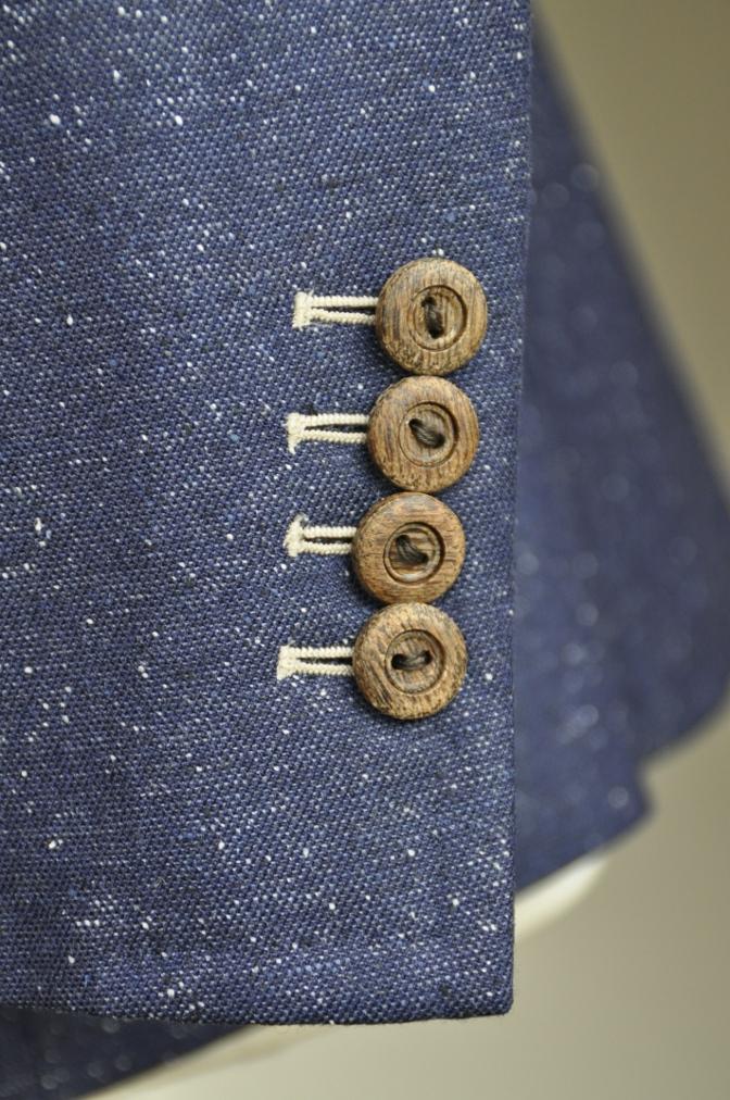 DSC26181 オーダージャケットの紹介-御幸毛織 ネイビーシルクネップ-