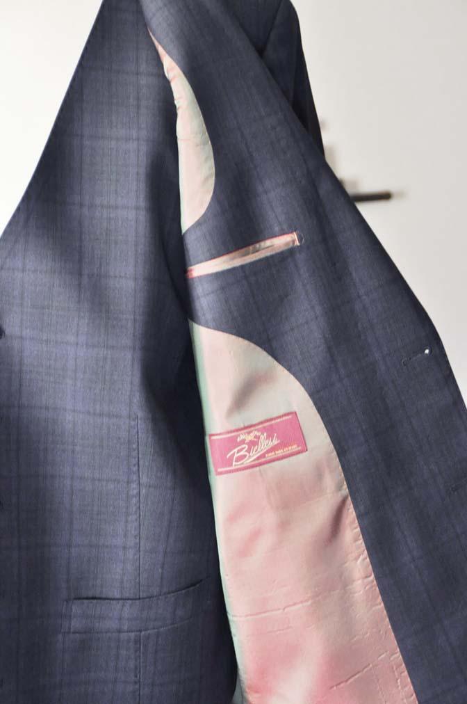 DSC2632-1 お客様のスーツの紹介- Biellesi ネイビーチェックスリーピース-