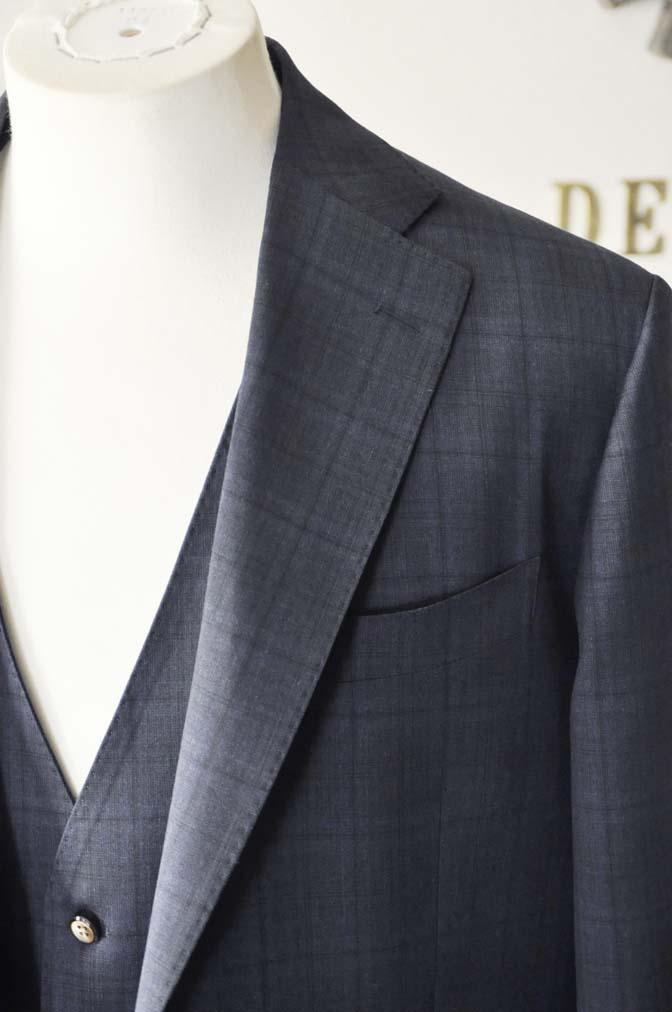 DSC2635-1 お客様のスーツの紹介- Biellesi ネイビーチェックスリーピース-