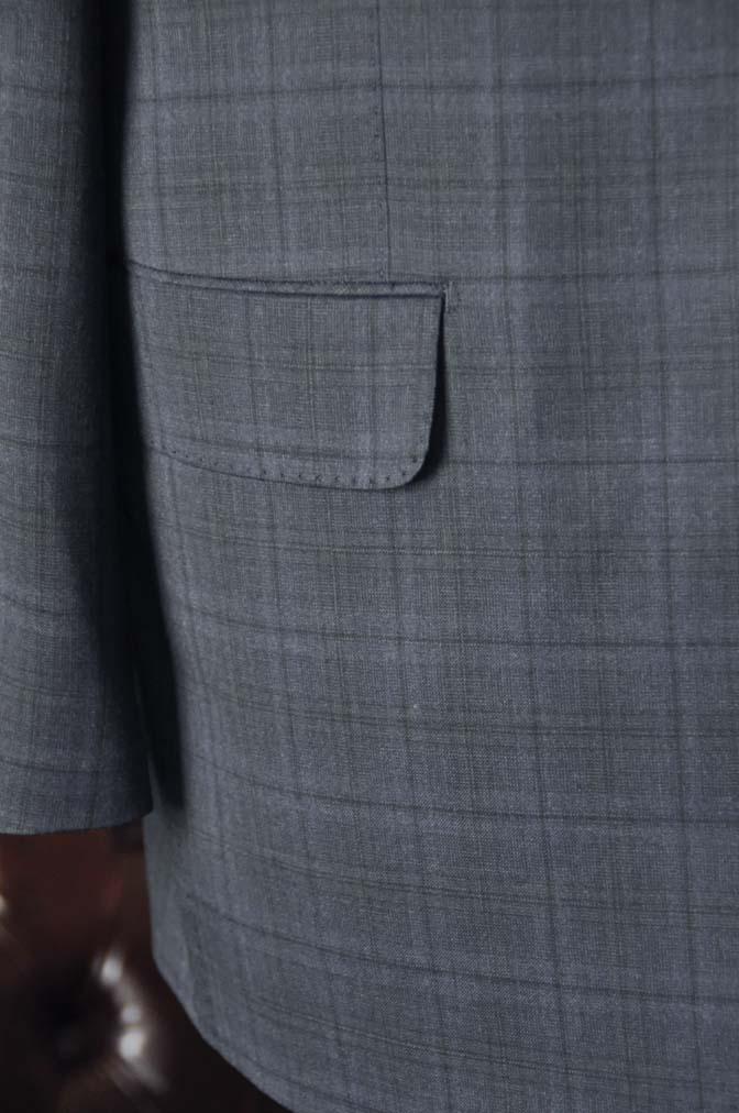 DSC2640-1 お客様のスーツの紹介- Biellesi ネイビーチェックスリーピース-