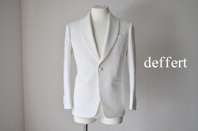 DSC26442 お客様のウエディング衣装の紹介-ホワイトショールカラータキシードジャケット ブラックパンツ-