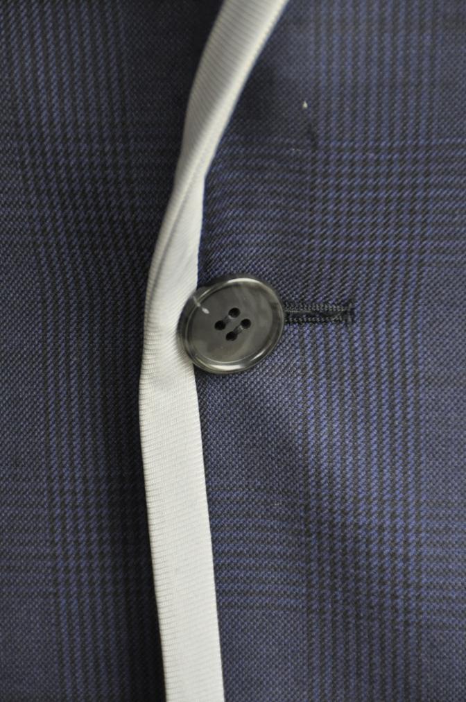 DSC26821 お客様のスーツの紹介-BIELLESI ネイビーグレンチェック パイピング-