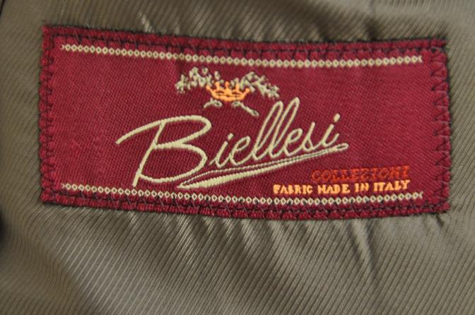 DSC2683 お客様のスーツの紹介-BIELLESI ネイビーグレンチェック パイピング-