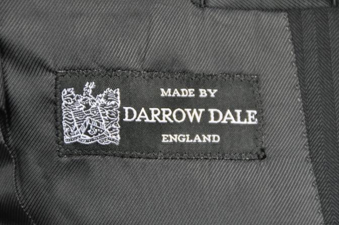 DSC2686 オーダースーツ-DARROW DALE ブラックシャドーストライプ-