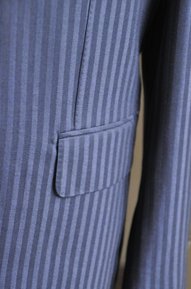 DSC2716 お客様のスーツの紹介-DARROW DALE ネイビーシャドウストライプ- 名古屋の完全予約制オーダースーツ専門店DEFFERT