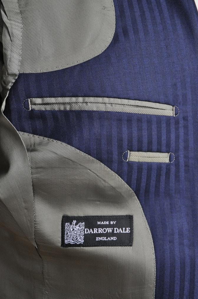 DSC2722 お客様のスーツの紹介-DARROW DALE ネイビーシャドウストライプ-
