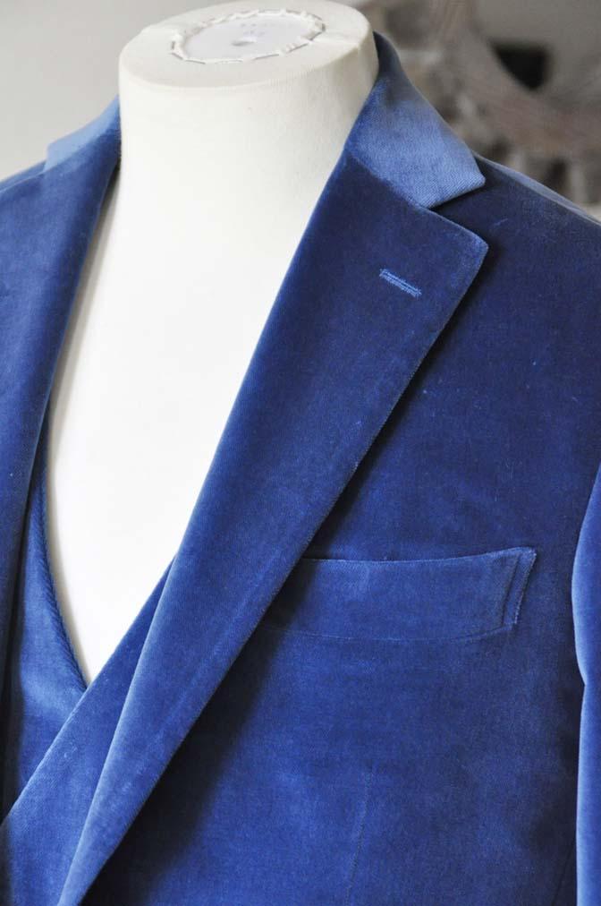 DSC2728-1 お客様のパーティー用スーツの紹介- NIEDIECK ネイビーベルベットスリーピース- 名古屋の完全予約制オーダースーツ専門店DEFFERT