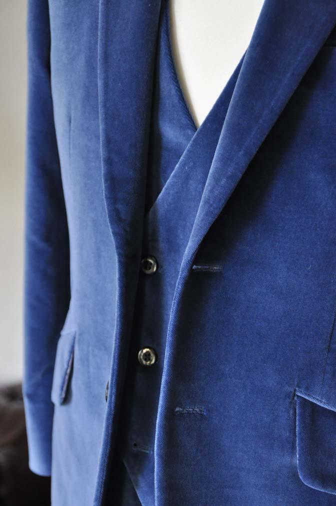 DSC2730-1 お客様のパーティー用スーツの紹介- NIEDIECK ネイビーベルベットスリーピース- 名古屋の完全予約制オーダースーツ専門店DEFFERT