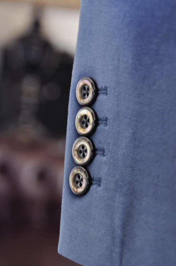 DSC2734-1 お客様のパーティー用スーツの紹介- NIEDIECK ネイビーベルベットスリーピース- 名古屋の完全予約制オーダースーツ専門店DEFFERT