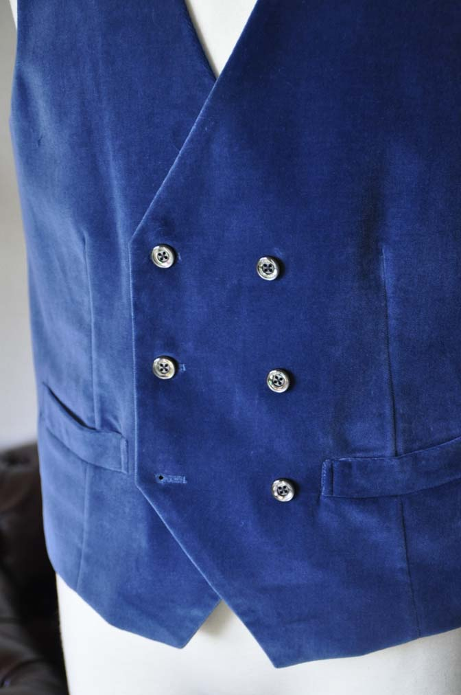 DSC2741-1 お客様のパーティー用スーツの紹介- NIEDIECK ネイビーベルベットスリーピース- 名古屋の完全予約制オーダースーツ専門店DEFFERT