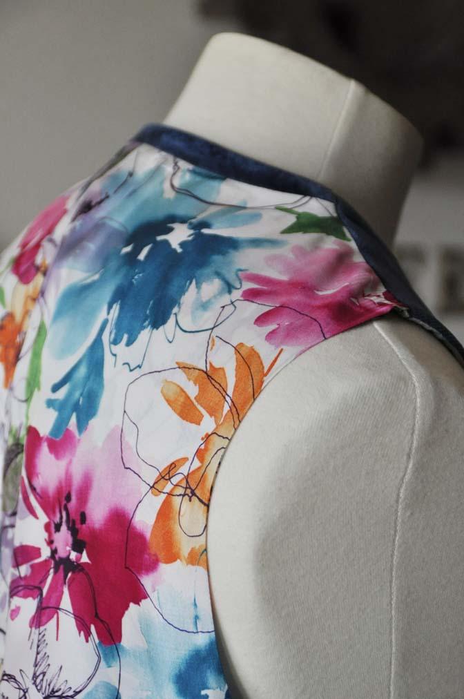 DSC2743-1 お客様のパーティー用スーツの紹介- NIEDIECK ネイビーベルベットスリーピース- 名古屋の完全予約制オーダースーツ専門店DEFFERT