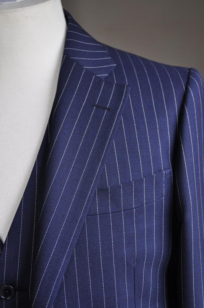 DSC2744 お客様のスーツの紹介-DARROW DALE ネイビーピンストライプ-