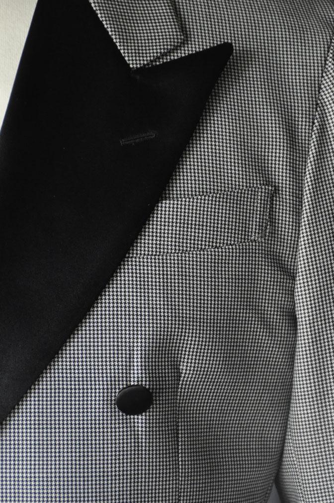DSC27501 お客様のウエディング衣装の紹介-CANONICO 千鳥格子ダブルタキシード-