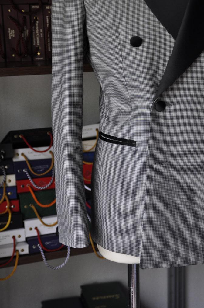 DSC27521 お客様のウエディング衣装の紹介-CANONICO 千鳥格子ダブルタキシード-