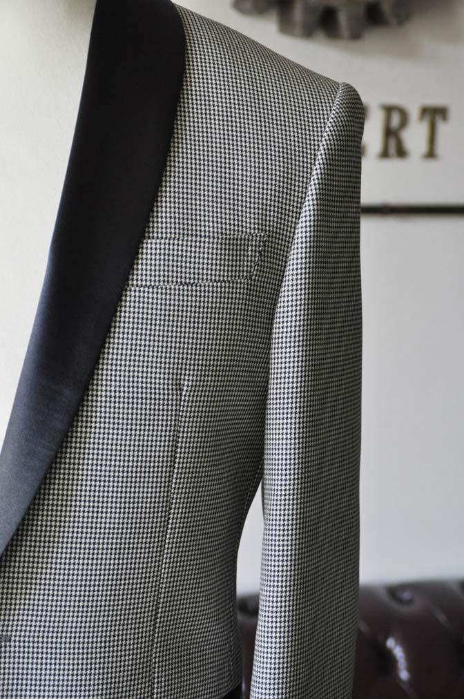DSC27522 お客様のウエディング衣装の紹介- DARROW DALE 千鳥格子 ショールカラータキシード-