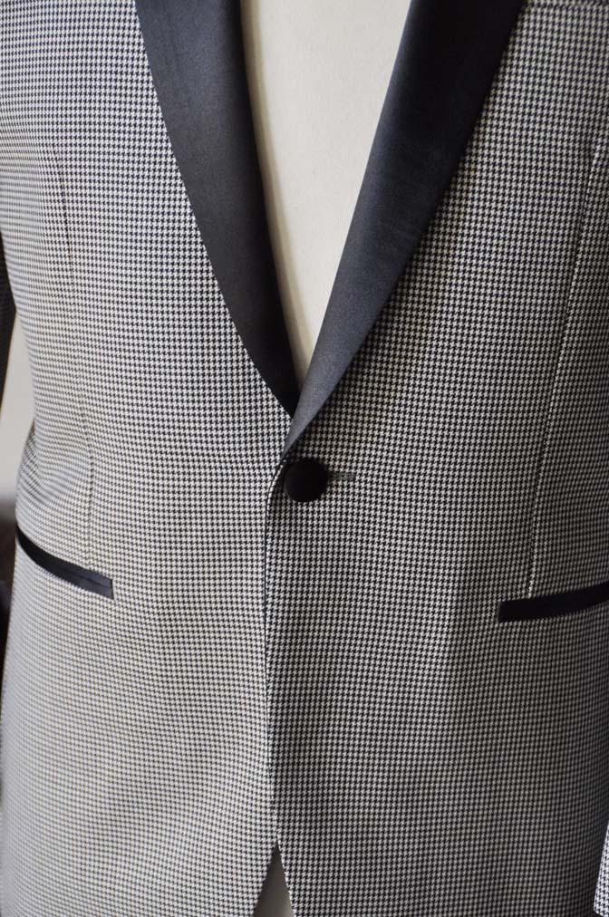 DSC27532 お客様のウエディング衣装の紹介- DARROW DALE 千鳥格子 ショールカラータキシード-