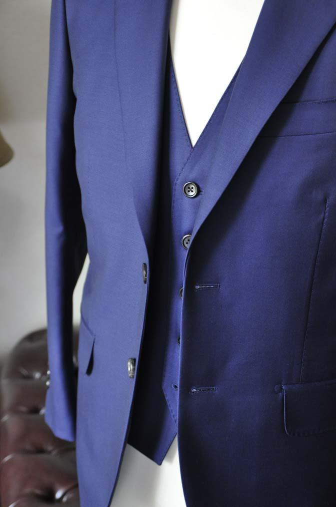 DSC2756-2 お客様のスーツの紹介-CANONICO 無地ネイビースリーピース-