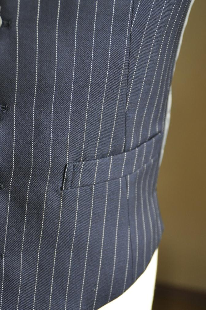 DSC2756 お客様のスーツの紹介-DARROW DALE ネイビーピンストライプ-
