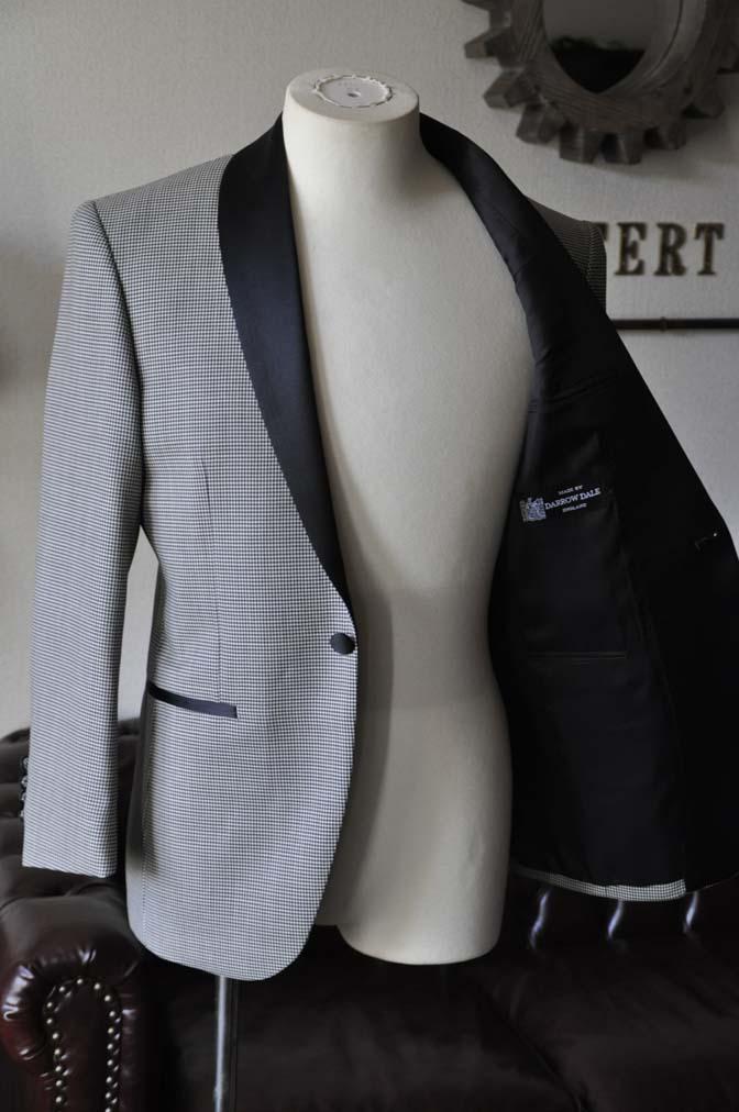 DSC27561 お客様のウエディング衣装の紹介- DARROW DALE 千鳥格子 ショールカラータキシード-