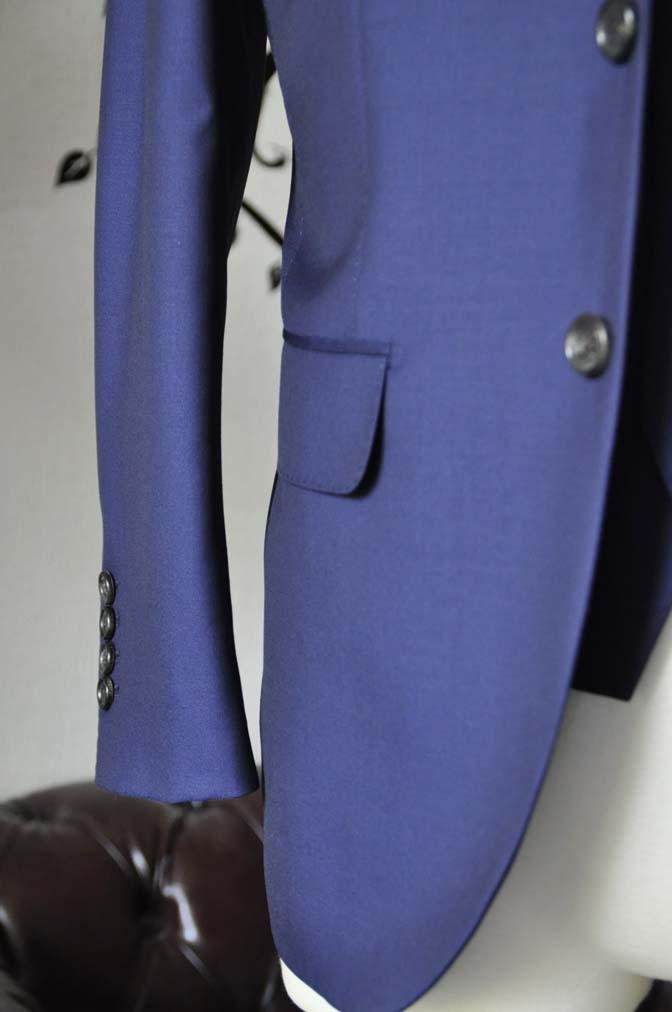 DSC2758-1 お客様のスーツの紹介-CANONICO 無地ネイビースリーピース-