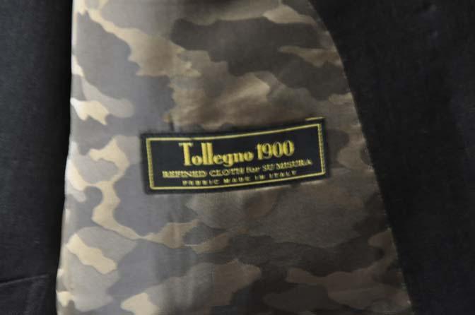 DSC27901 お客様のスーツの紹介- Tollegno 無地ブラウン スリーピーススーツ-