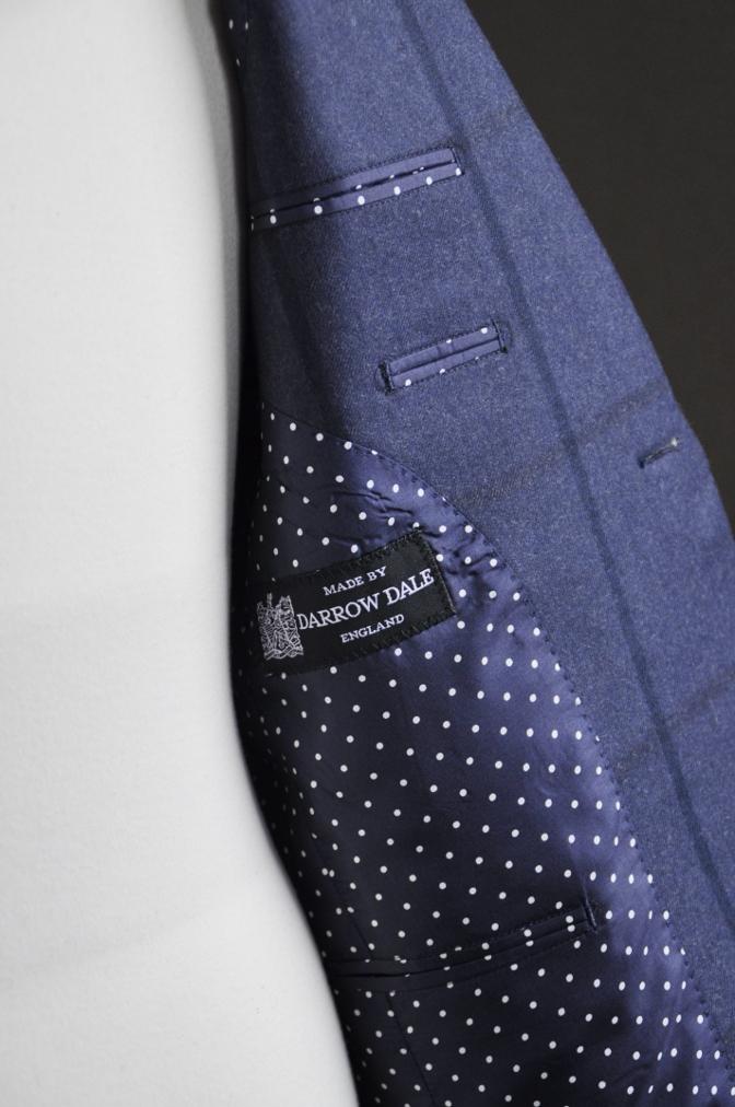 DSC2801 お客様のスーツの紹介-DARROW DALE ネイビーチェック-