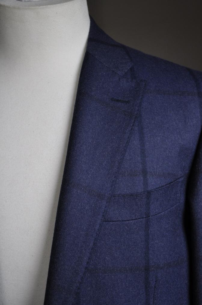 DSC2805 お客様のスーツの紹介-DARROW DALE ネイビーチェック-