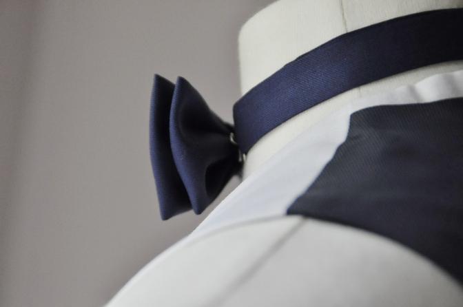 DSC28051 お客様のウエディング衣装の紹介-BIELLESIネイビースーツ グレー/ホワイトベスト-
