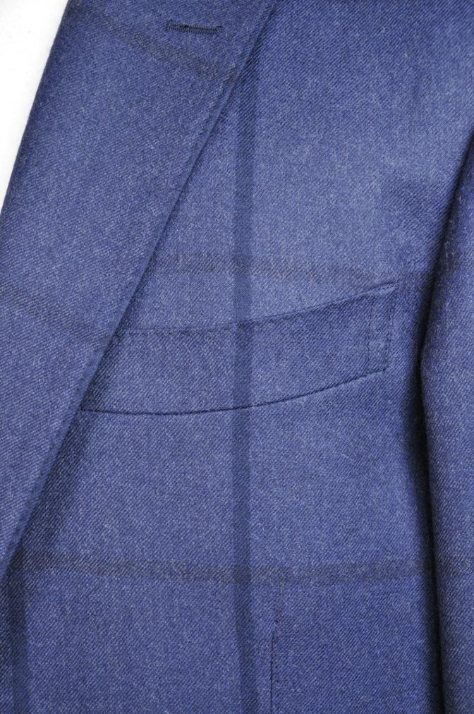 DSC2807 お客様のスーツの紹介-DARROW DALE ネイビーチェック-