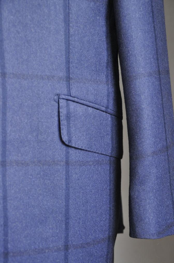 DSC2808 お客様のスーツの紹介-DARROW DALE ネイビーチェック-