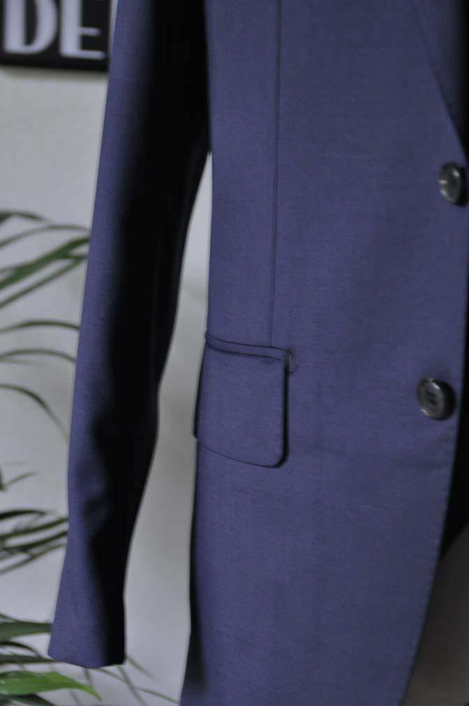 DSC2812 お客様のスーツの紹介-Biellesi 無地ネイビースリーピース-