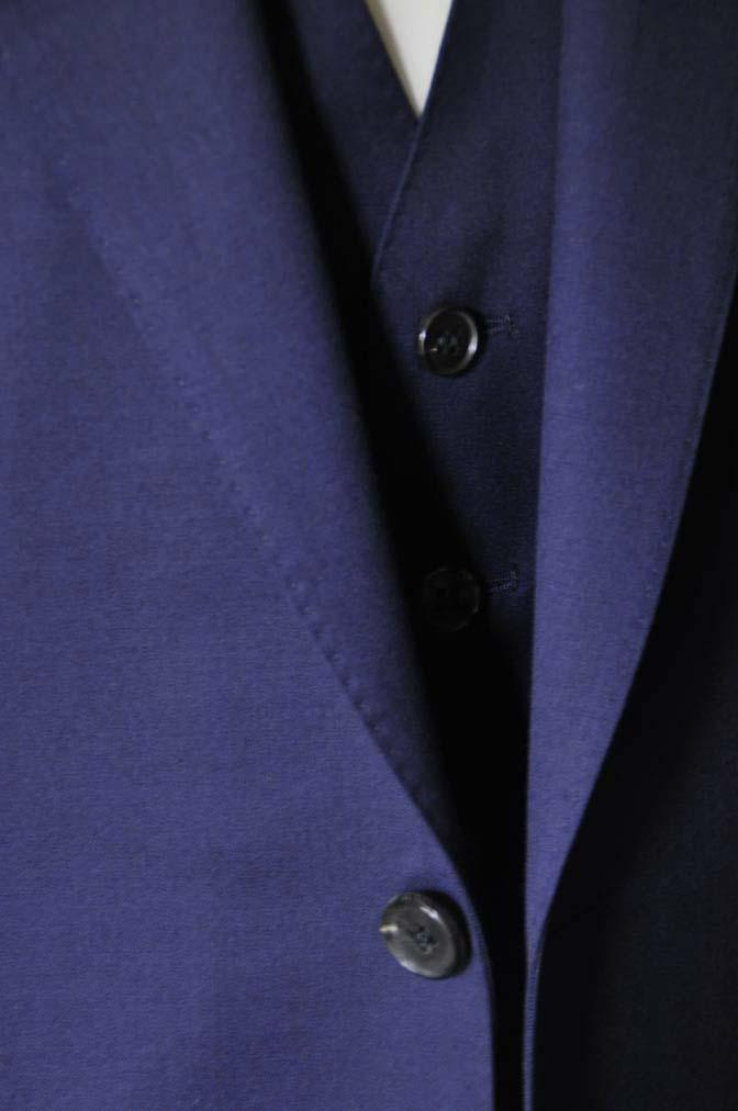 DSC2813 お客様のスーツの紹介-Biellesi 無地ネイビースリーピース-
