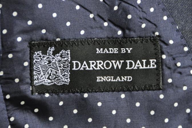 DSC2815 お客様のスーツの紹介-DARROW DALE ネイビーチェック-