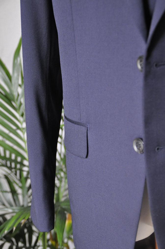 DSC2859 お客様のスーツの紹介-Biellesi 無地ネイビー スリーピース -