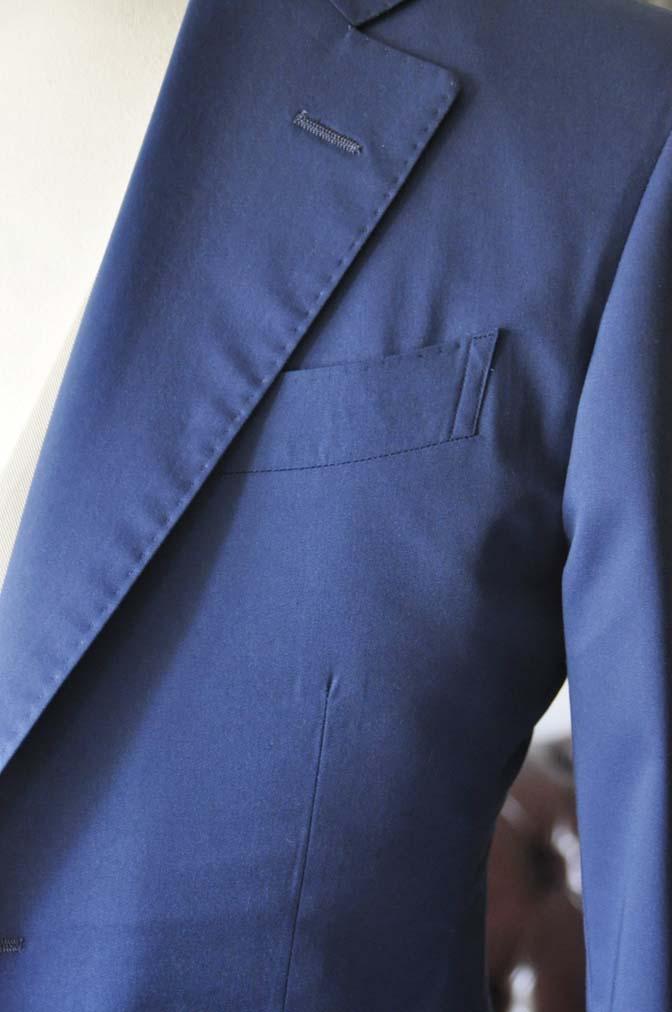 DSC2882 お客様のウエディング衣装の紹介-ネイビーコットンスーツ ホワイトベスト- 名古屋の完全予約制オーダースーツ専門店DEFFERT