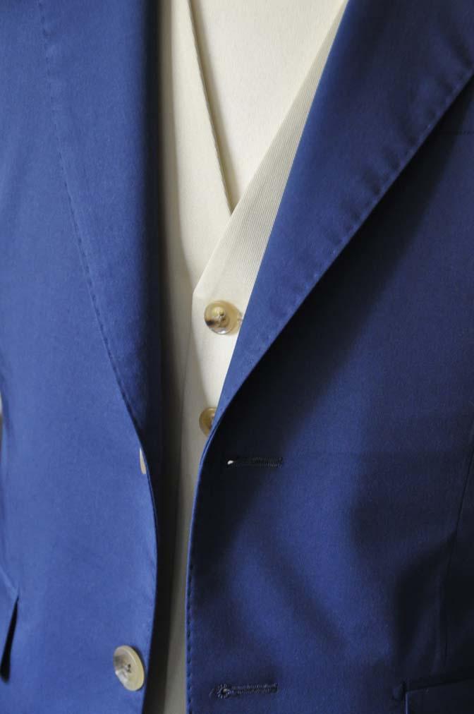 DSC2883 お客様のウエディング衣装の紹介-ネイビーコットンスーツ ホワイトベスト- 名古屋の完全予約制オーダースーツ専門店DEFFERT
