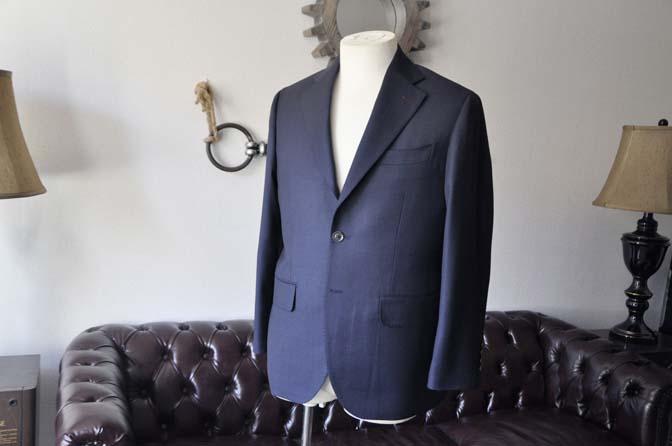 DSC2890-1 お客様のスーツの紹介- Biellesi ネイビーバーズアイ-