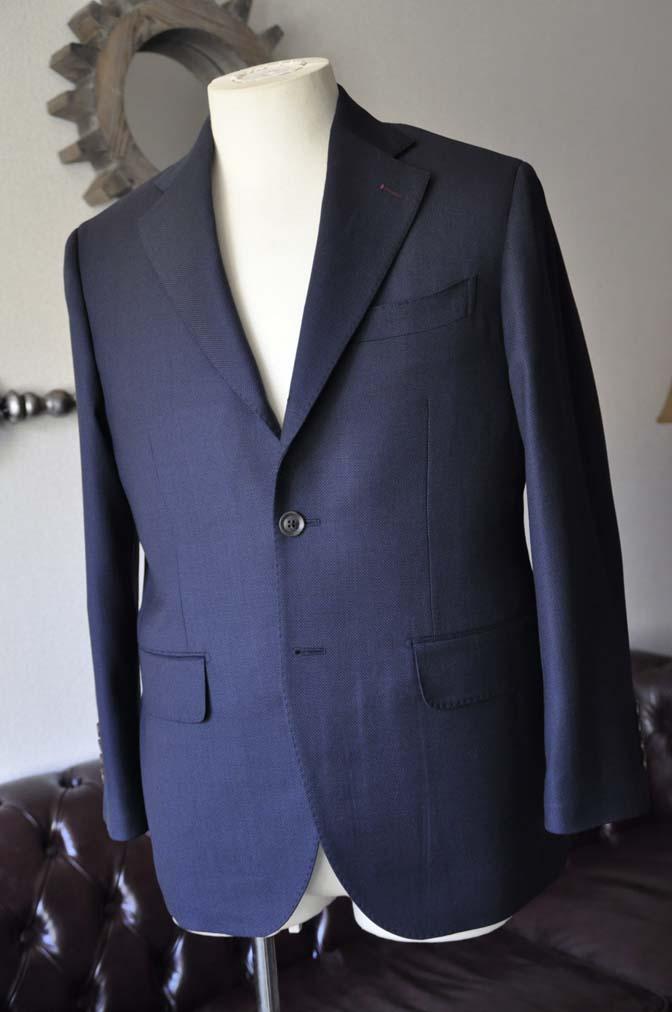 DSC2891-1 お客様のスーツの紹介- Biellesi ネイビーバーズアイ-