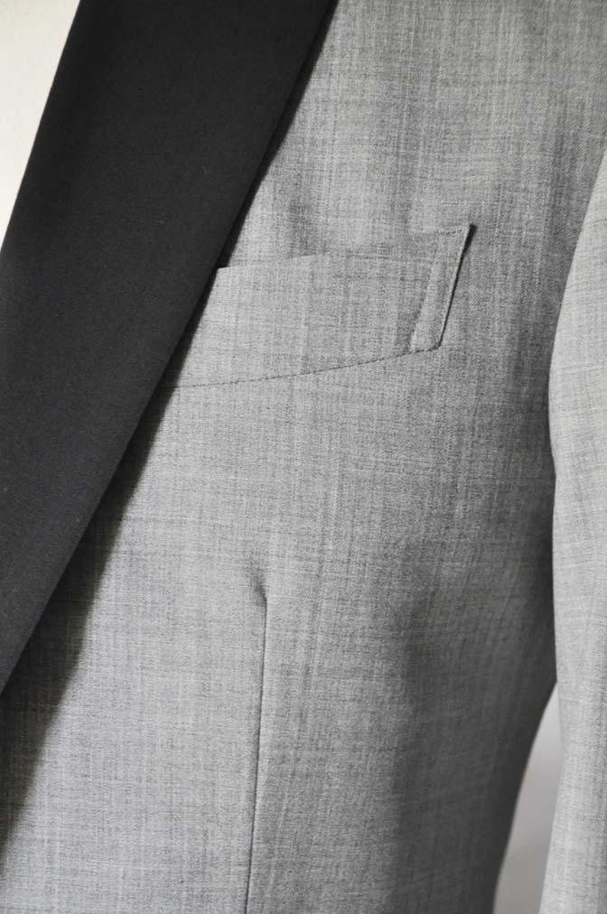DSC2891 お客様のウエディング衣装の紹介-ショールカラージャケット チェックベスト ブラックパンツ-