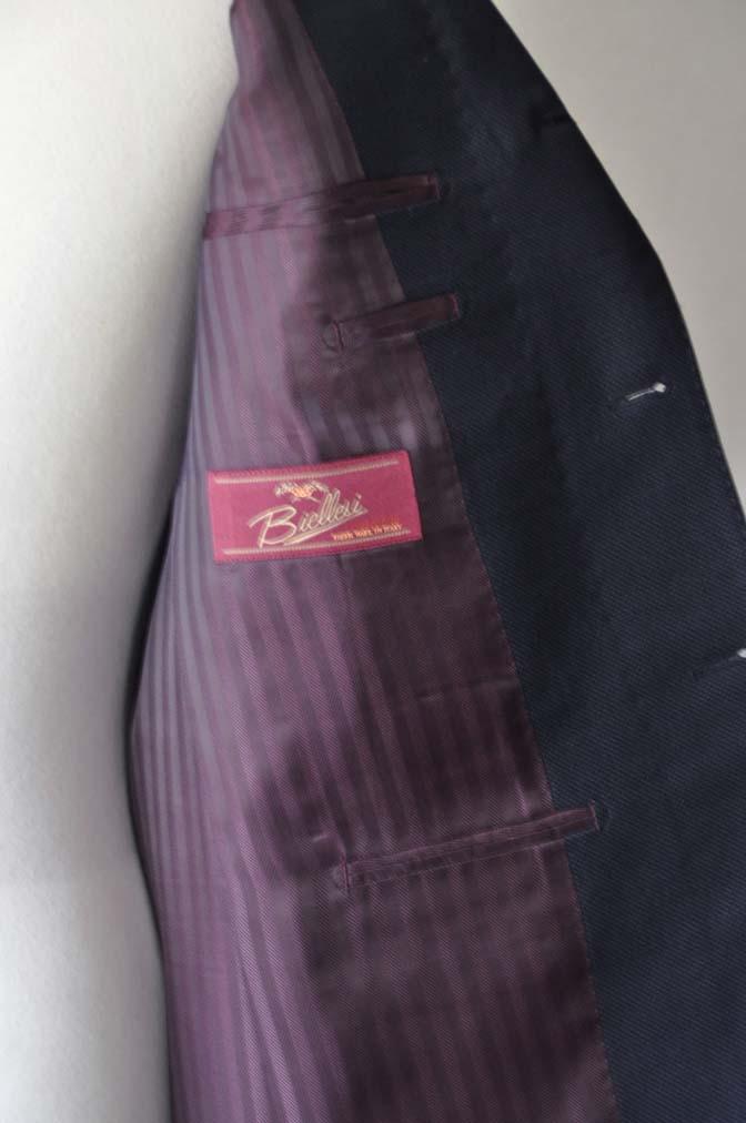 DSC2893 お客様のスーツの紹介- Biellesi ネイビーバーズアイ-